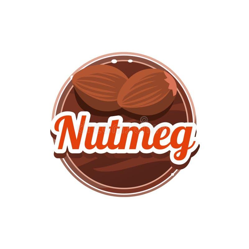 Nutmeg Spice. Vector Illustration. vector illustration