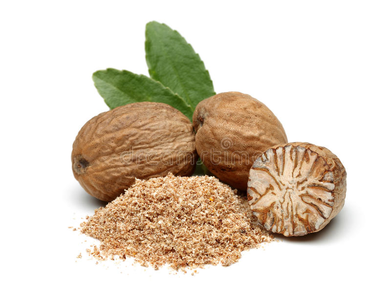 Nutmeg royalty free stock photos