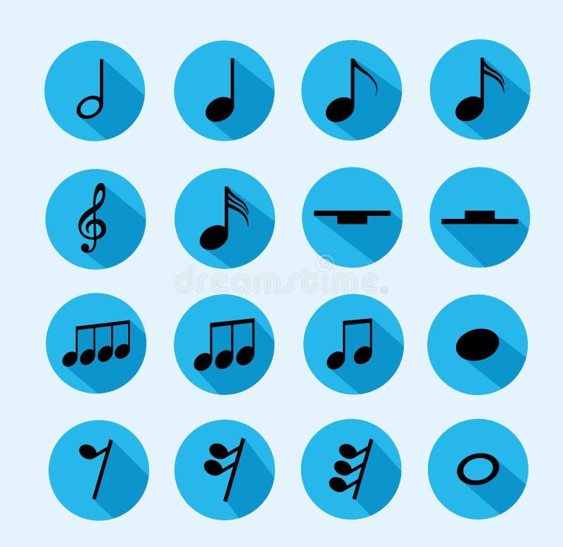 Nutowa ikona muzyka ilustracja wektor