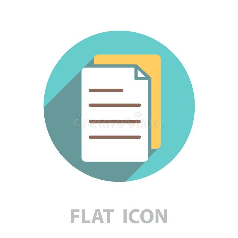 Nutowego papieru ikona wektor ilustracji