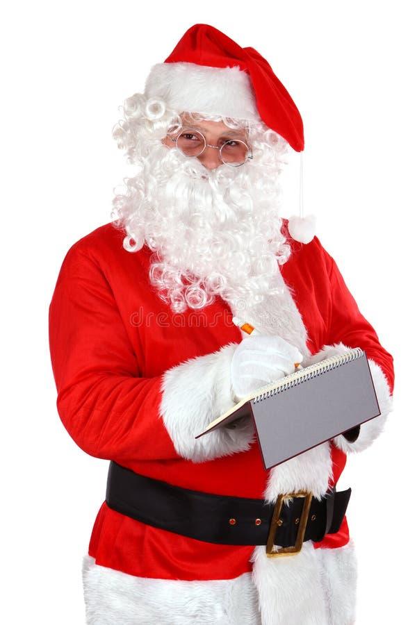 nutowy Claus writing Santa obraz stock