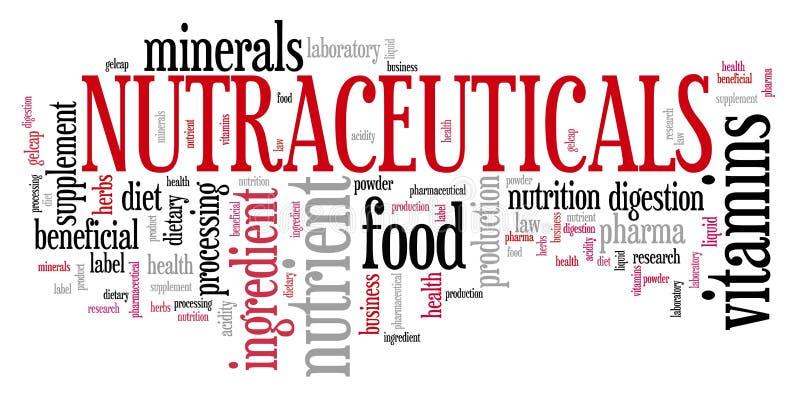 Nutraceuticals royalty-vrije illustratie
