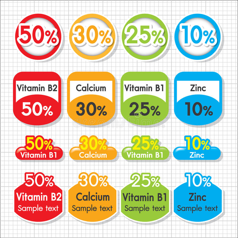 Nutrição do zinco do cálcio da vitamina ilustração royalty free