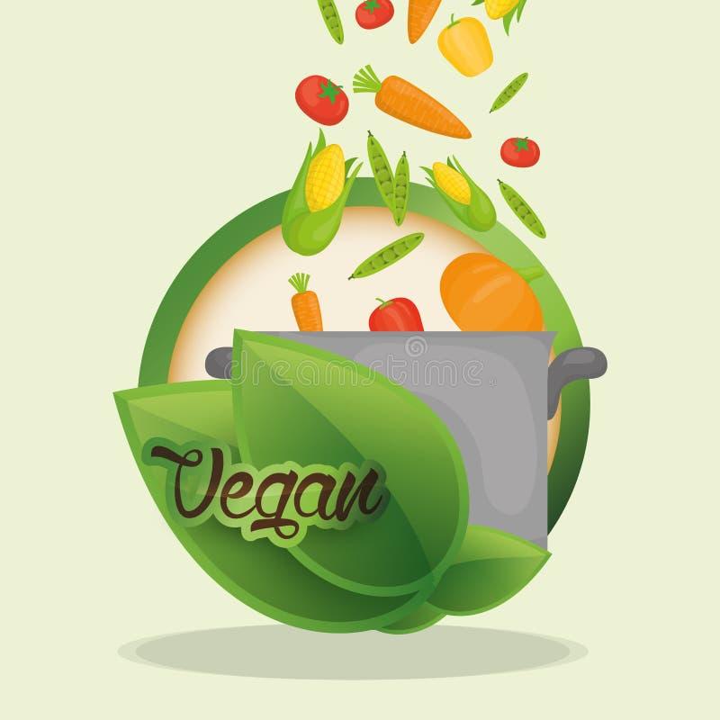 nutrição saudável da dieta de alimento do vegetariano ilustração do vetor
