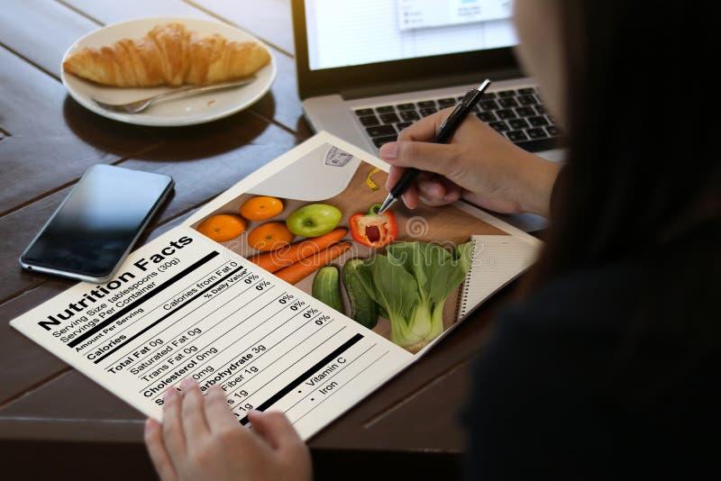Nutrição sem glúten da doença celíaca do alimento dos fatos da nutrição, Hea imagens de stock royalty free