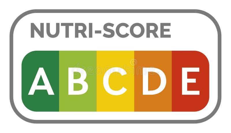 Nutri-score label system in France. Illustration vector illustration