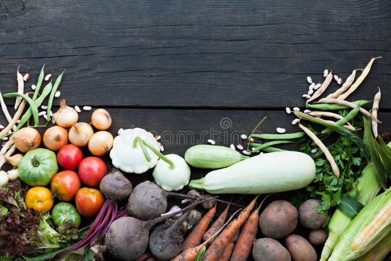 Nutrición de la comida de la dieta, concepto vegetariano de los ingredientes Comida baja en calor?as fotografía de archivo libre de regalías