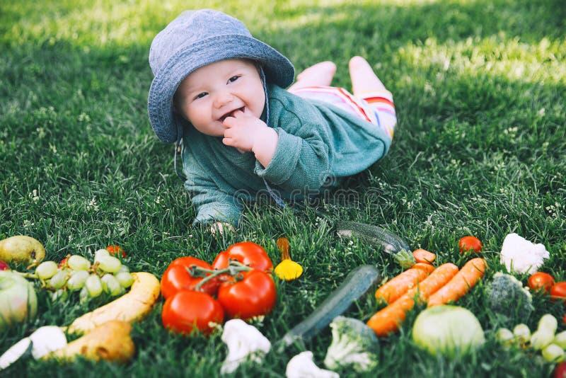 Nutrición natural sana del niño y de la familia fotografía de archivo libre de regalías