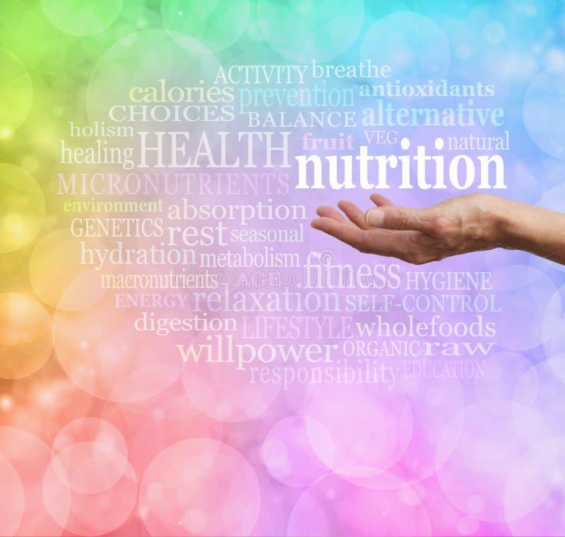 Nutrition dans la paume de votre main photos libres de droits