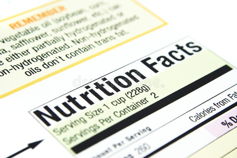 Download Nutrition facts stock image. Image of iron, nutrition - 14859177