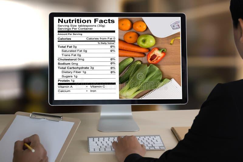 Nutrition gratuite de maladie coeliaque de nourriture de gluten de faits de nutrition, Hea images stock