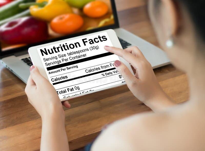 Nutrition gratuite de maladie coeliaque de nourriture de gluten de faits de nutrition, Hea photo stock