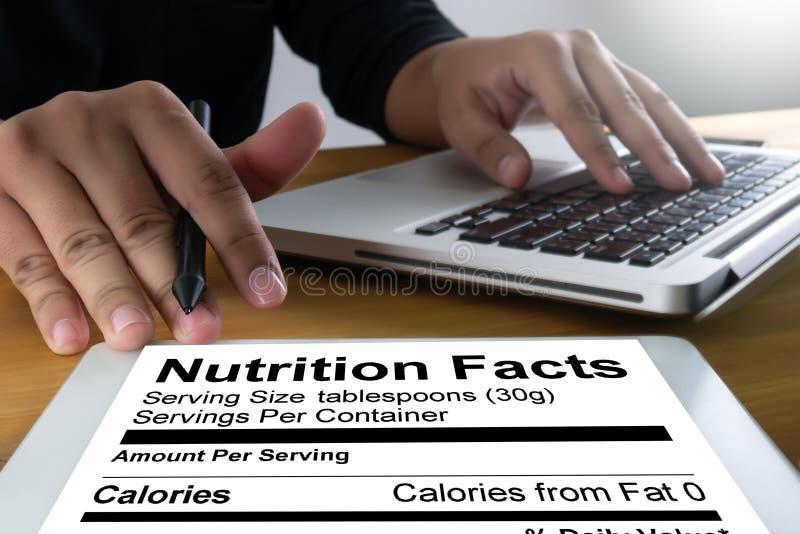 Nutrition gratuite de maladie coeliaque de nourriture de gluten de faits de nutrition, Hea image libre de droits