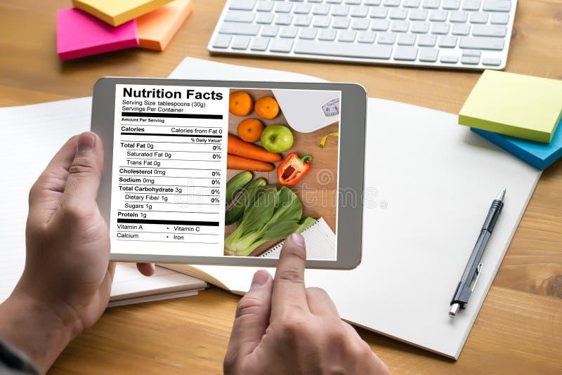 Nutrition gratuite de maladie coeliaque de nourriture de gluten de faits de nutrition, Hea photographie stock