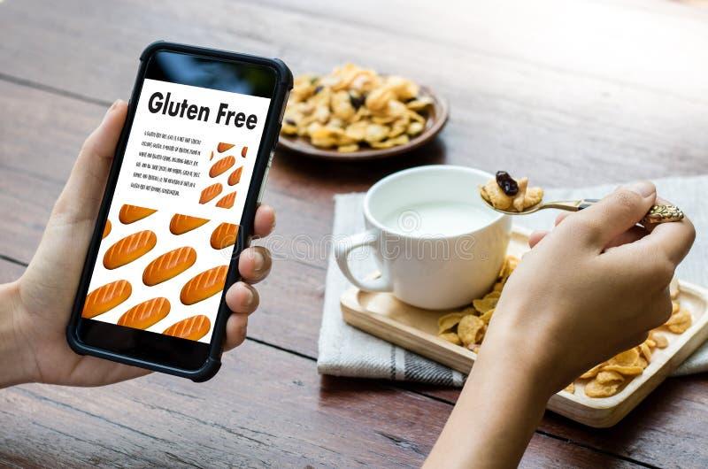 Nutrition gratuite de maladie coeliaque de nourriture de gluten, mode de vie sain c photographie stock libre de droits