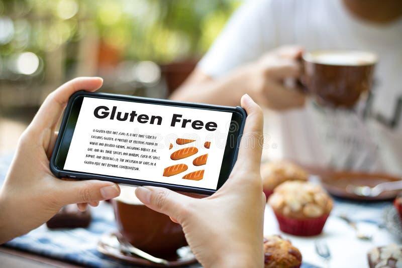 Nutrition gratuite de maladie coeliaque de nourriture de gluten, mode de vie sain c images libres de droits