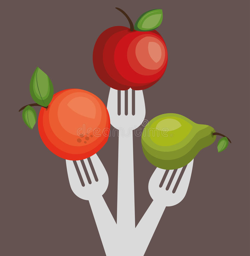 Nutrition healthy food isolated icon. Vector illustration design stock illustration