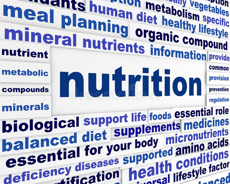 Nutrition healthy life style concept stock illustration