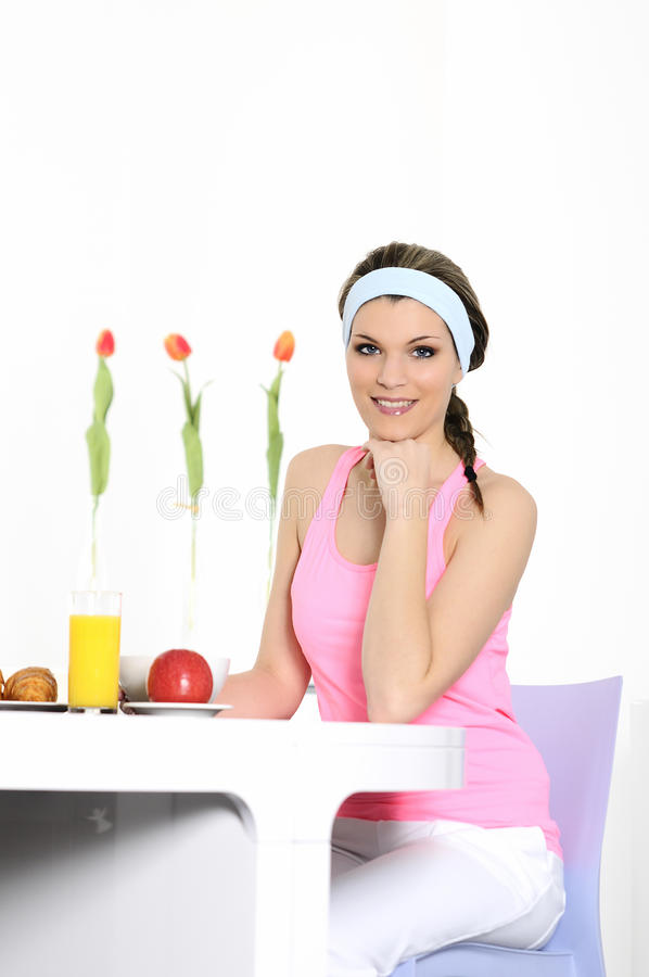 Nutrition woman royalty free stock photography