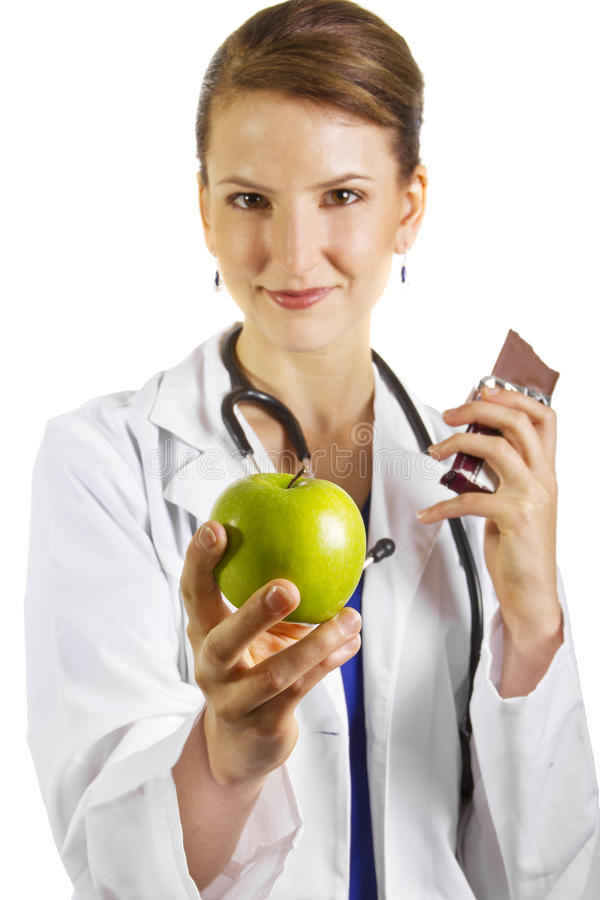 Download Nutritionist stock photo. Image of caucasian, apple, attractive - 26072588