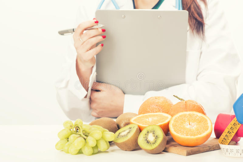 Nutritionist doctor woman royalty free stock image