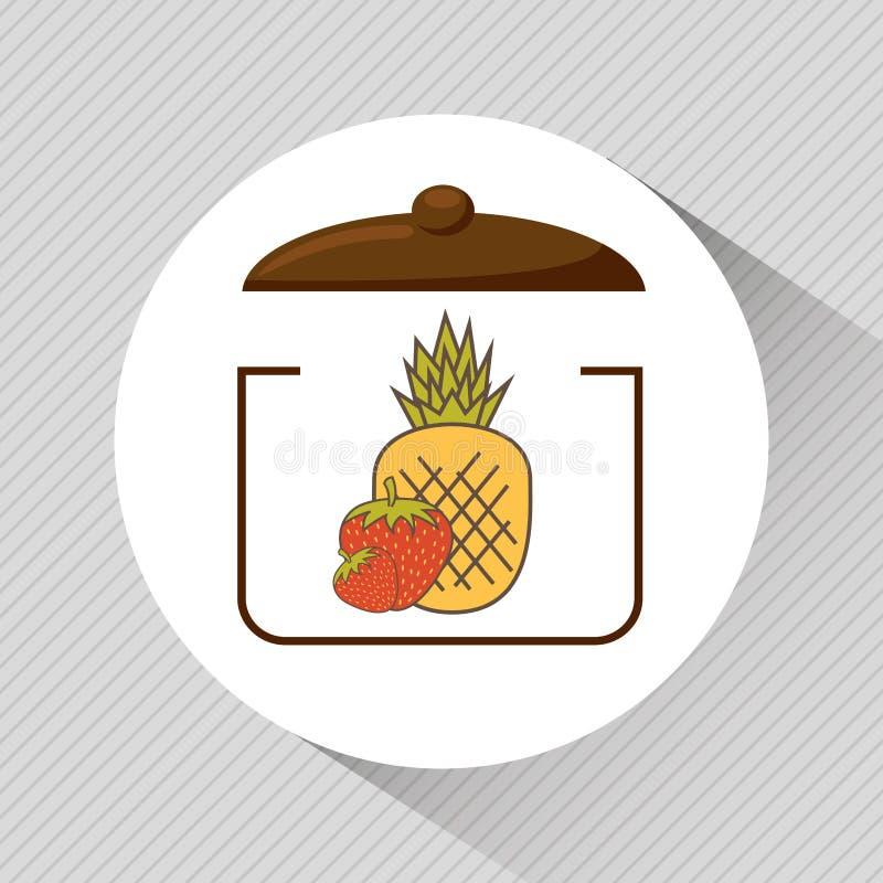 Nutritive food design. Illustration eps10 graphic royalty free illustration