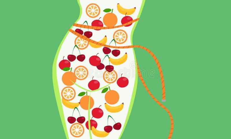 Nutrizione adeguata royalty illustrazione gratis