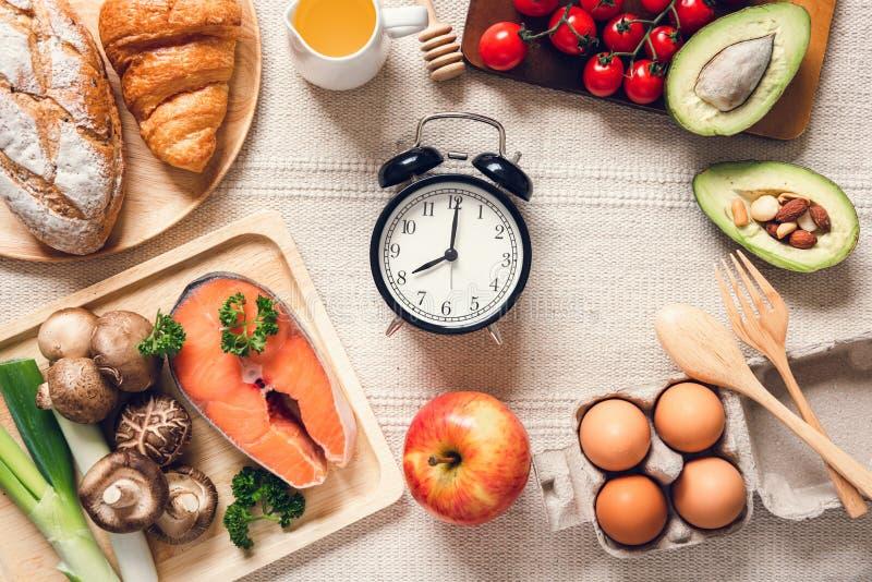 Nutrizione sana Concetto di alimento naturale per ingredienti naturali, salute nutrizionale equilibrata con verdure organiche pre immagini stock libere da diritti