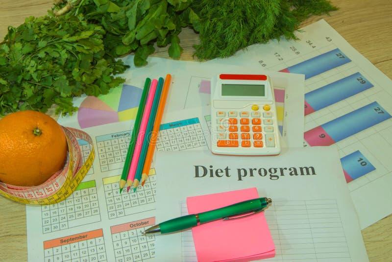 Nutrizione sana nella priorità alta Concetto del controllo del peso, di dieta e di nutrizione fotografia stock