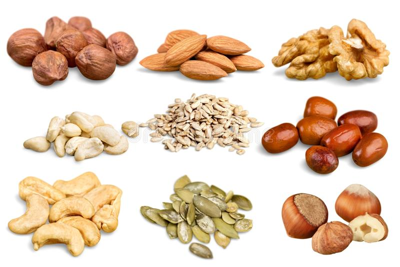 Nuts Ansammlung stockfoto