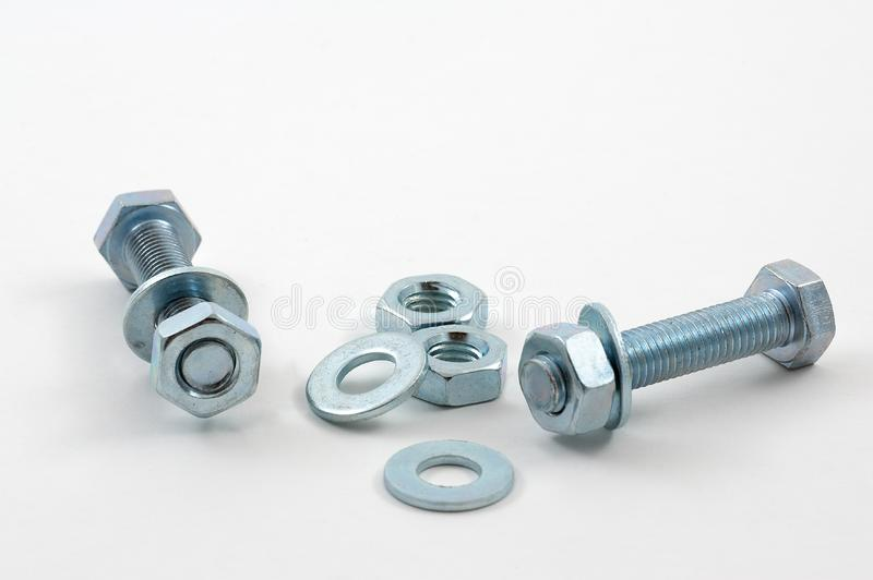 Nuts and Bolts 01 royalty free stock images