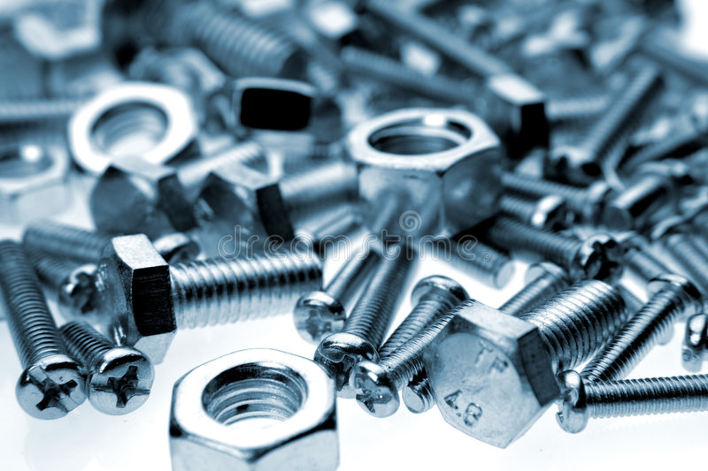 Nuts & bolts royalty free stock photography