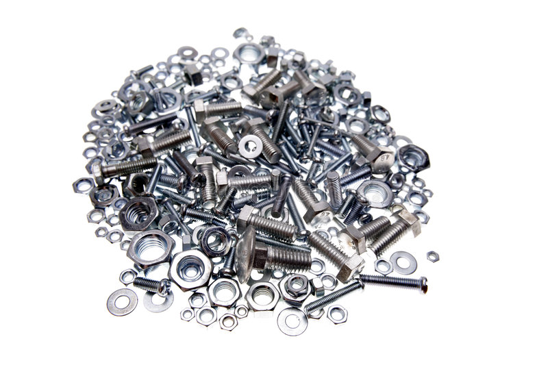 Download Nuts and bolts stock photo. Image of construction, background - 3395076