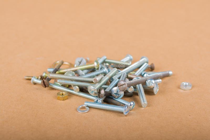 Nuts Bolts Screws & Clamps royalty free stock images