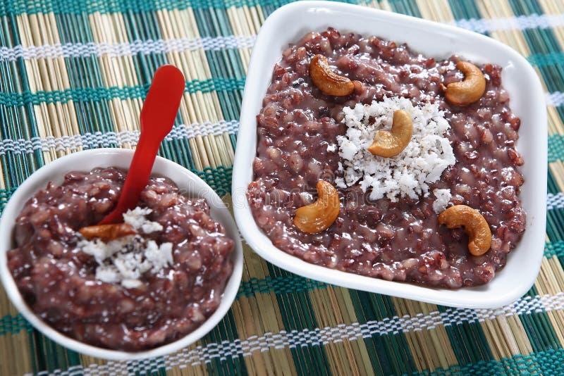 Nuts Bonbon schwarzer Reis Kavuni stockfoto