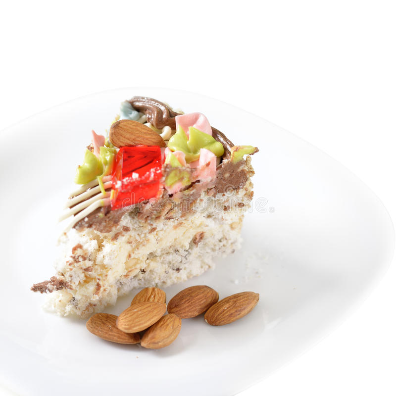 Download Nuts Cake stock photo. Image of coffee, close, food, plate - 28010220