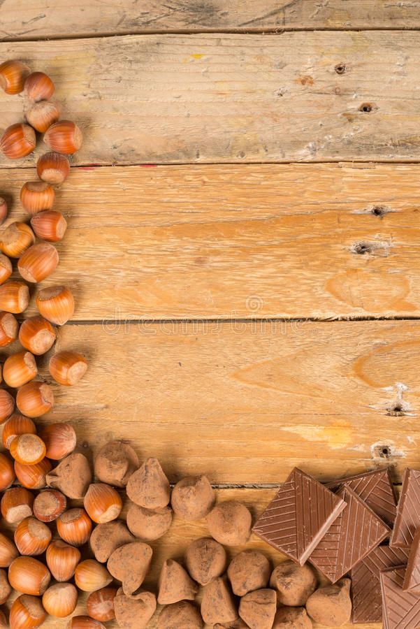 Nuts and candy royalty free stock image
