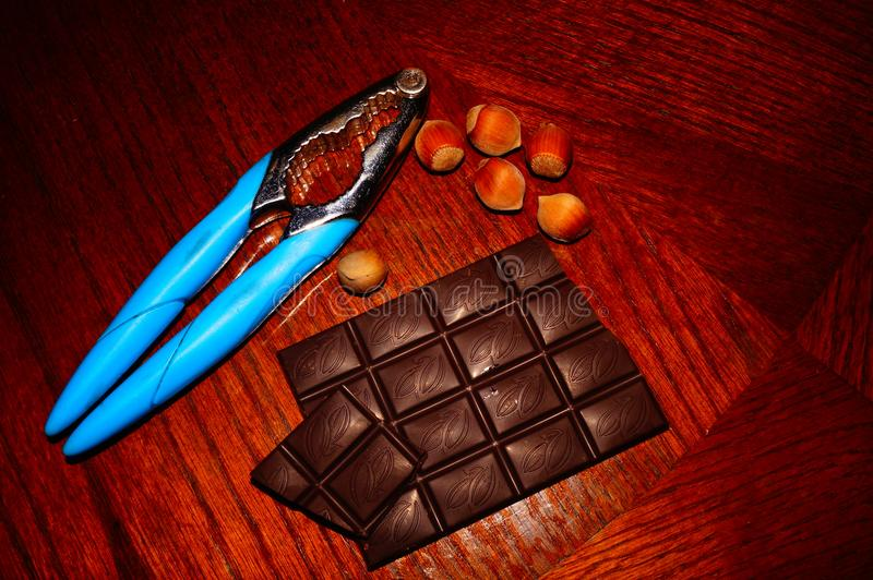 Nuts and Chocolate royalty free stock photos