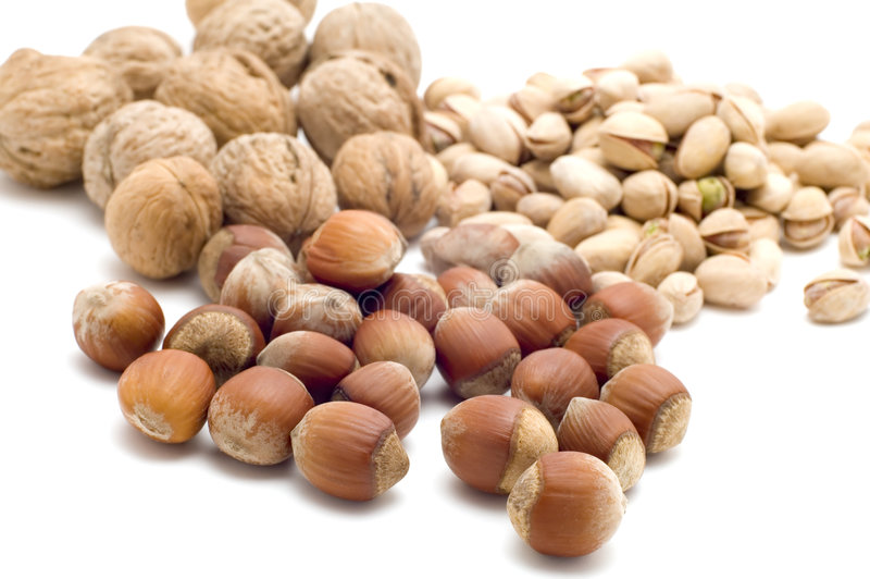 Nuts close up royalty free stock images