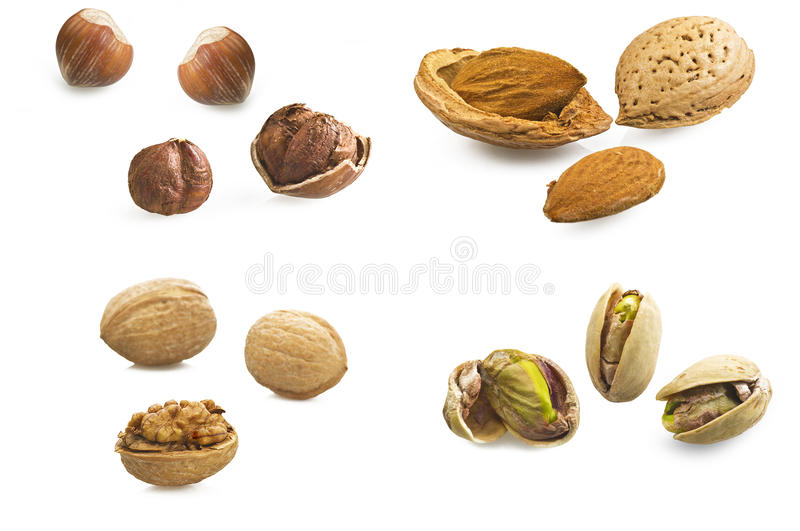 Nuts,collage stock photography