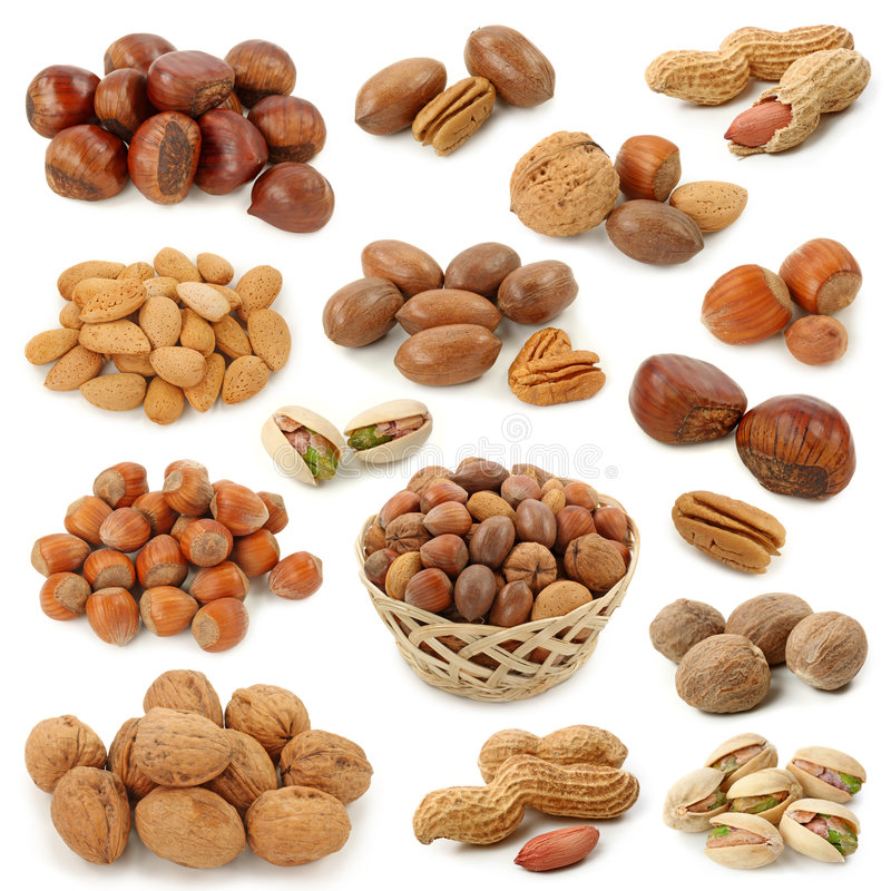 Free Nuts Collection Royalty Free Stock Image - 7542736