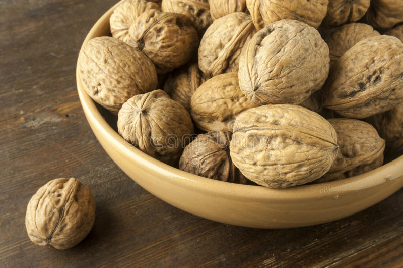 Nuts. A cup of mature nuts stock images