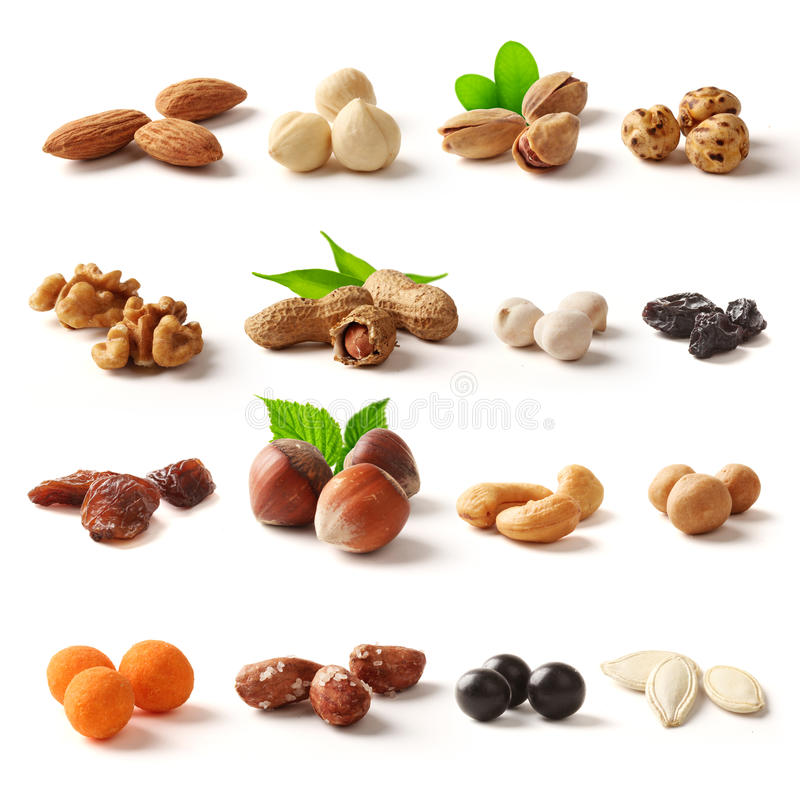 Free Nuts Family With Clipping Path Royalty Free Stock Photos - 40072878