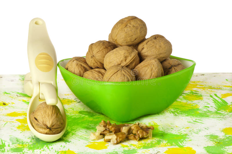 Download Nuts In The Green Container Stock Image - Image: 25442621