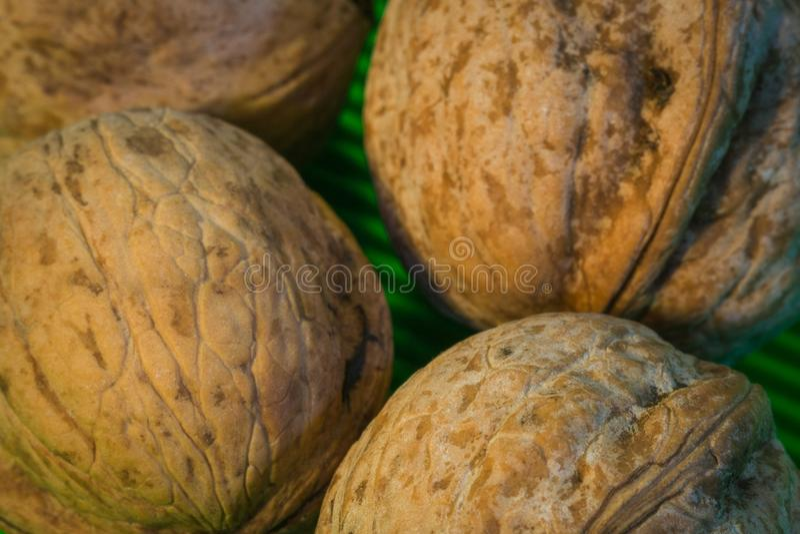 Nuts Makrofoto lizenzfreies stockbild