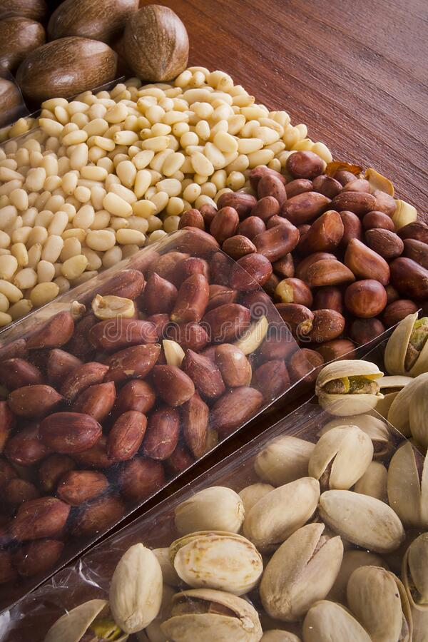 Nuts Mix for Healthy Eating royalty free stock images