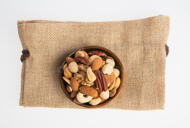 nuts or mix peanuts on a background. royalty free stock photography