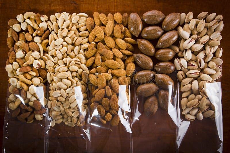 Nuts Mix voor gezond eten stock afbeeldingen