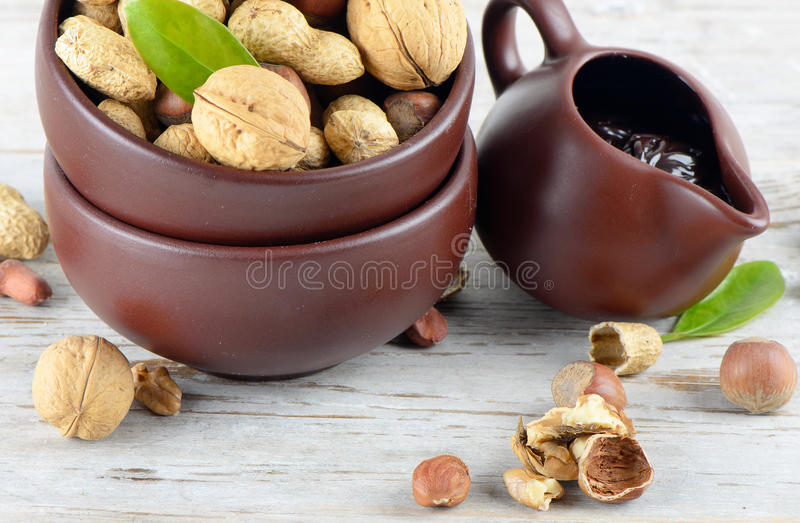 Download Nuts and nut cream stock image. Image of hazelnuts, shells - 24105325