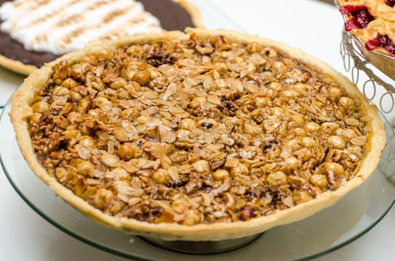 Nuts Pie Royalty Free Stock Photos